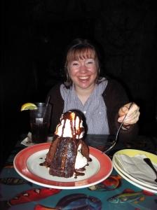 Bridgette with a Volcano!